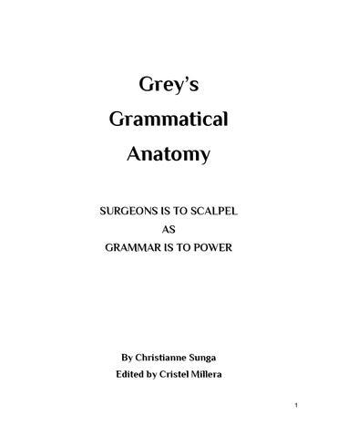 Grey's Grammatical Anatomy by Bravo Grammar Book Fair Online - issuu