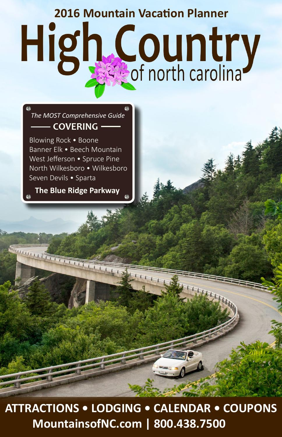 2016 NC High Country Vacation Planner by Candice Cook - Issuu