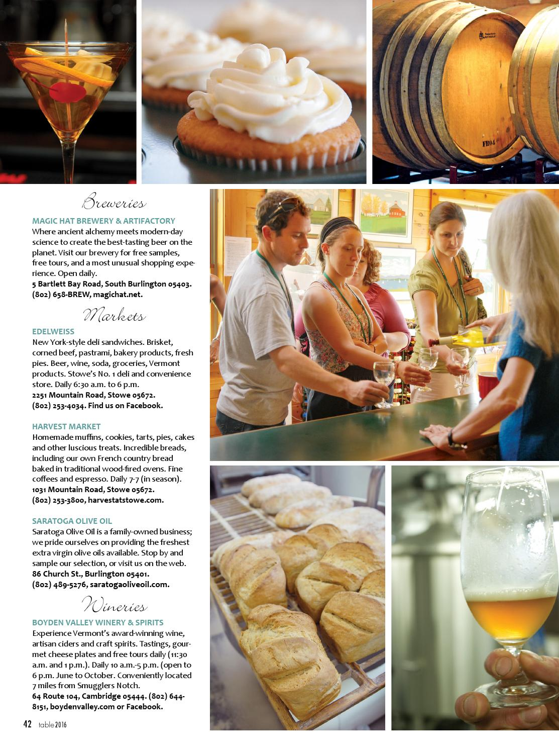 Table 2016 by Stowe Guide & Magazine - issuu