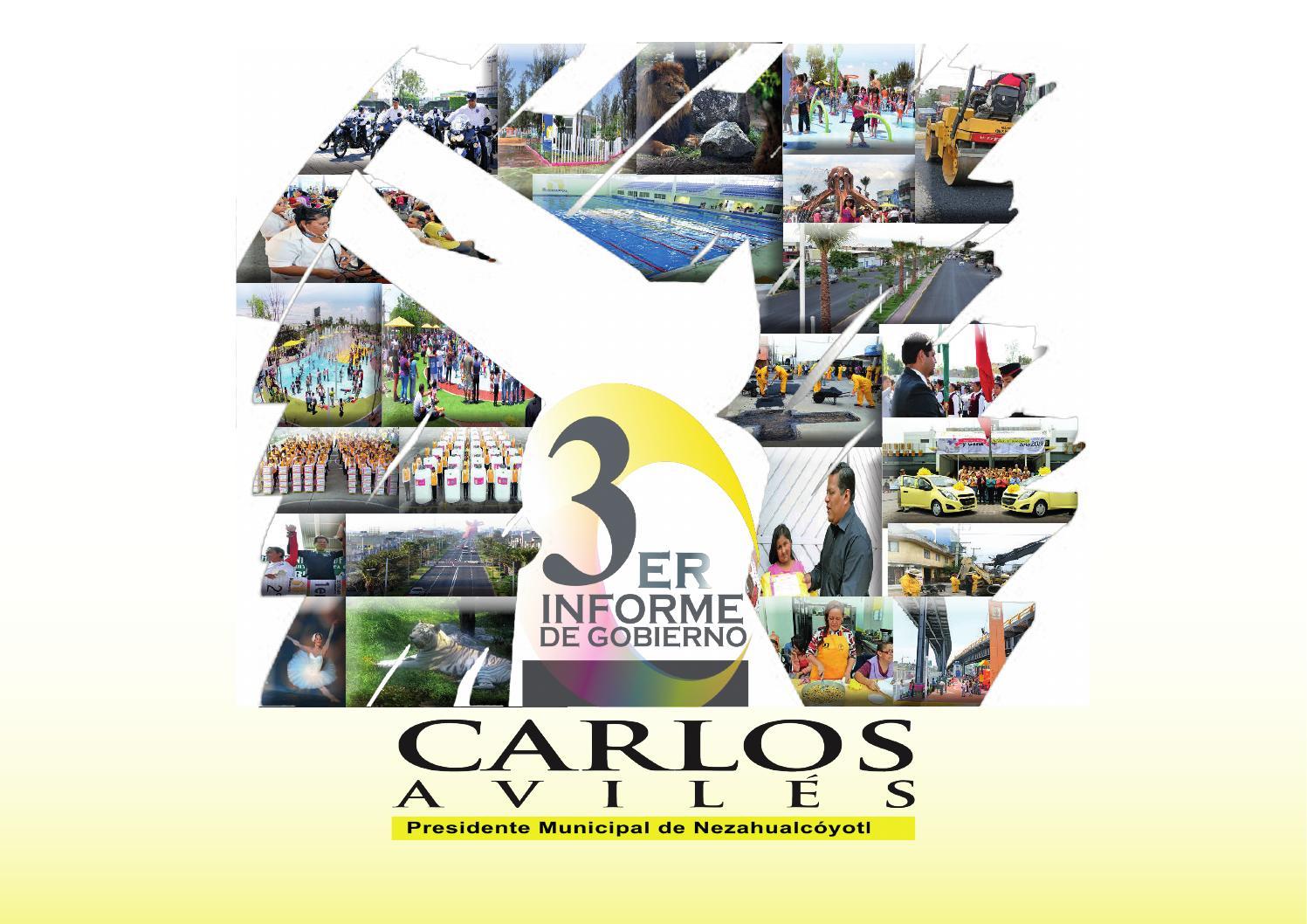 3er Informe De Gobierno Carlos Avil S Nezahualc Yotl 2015 By H  # Muebles Nezahualcoyotl