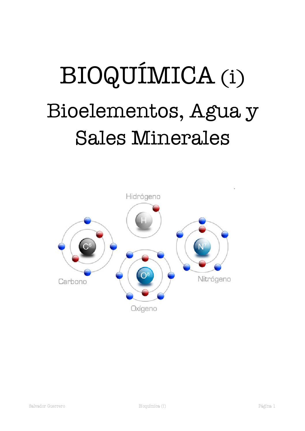 bioelementos agua y sales minerales