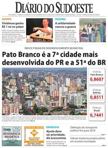 Diário do sudoeste 5 e 6 de dezembro de 2015 ed 6526 by Diário do ... bfd734e0dfd52
