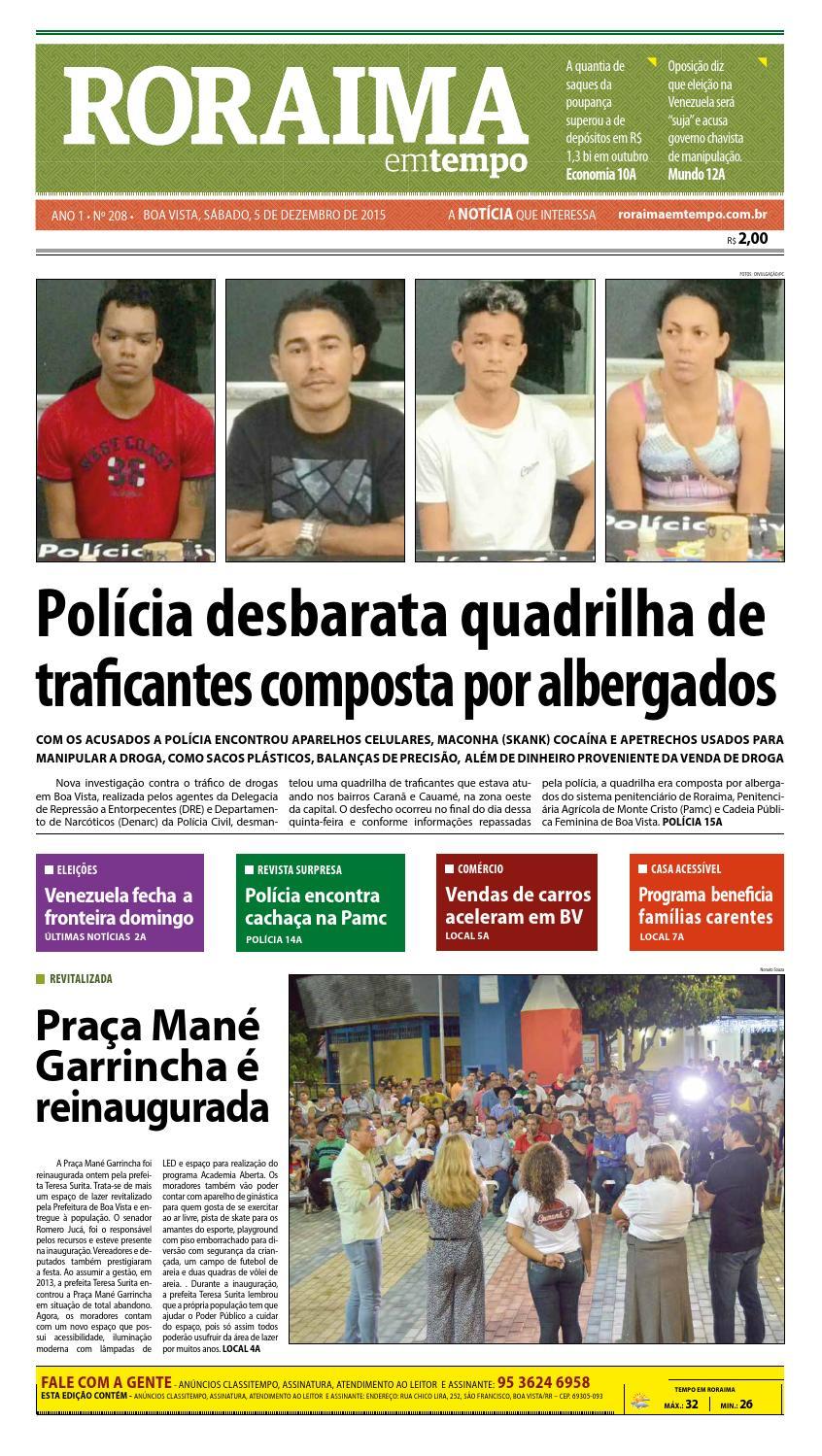 ... b77b4c2b823 Jornal roraima em tempo – edição 208 – período de  visualização gratuito by RoraimaEmTempo ... b0b7919c6e31a