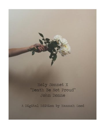 the blossom john donne