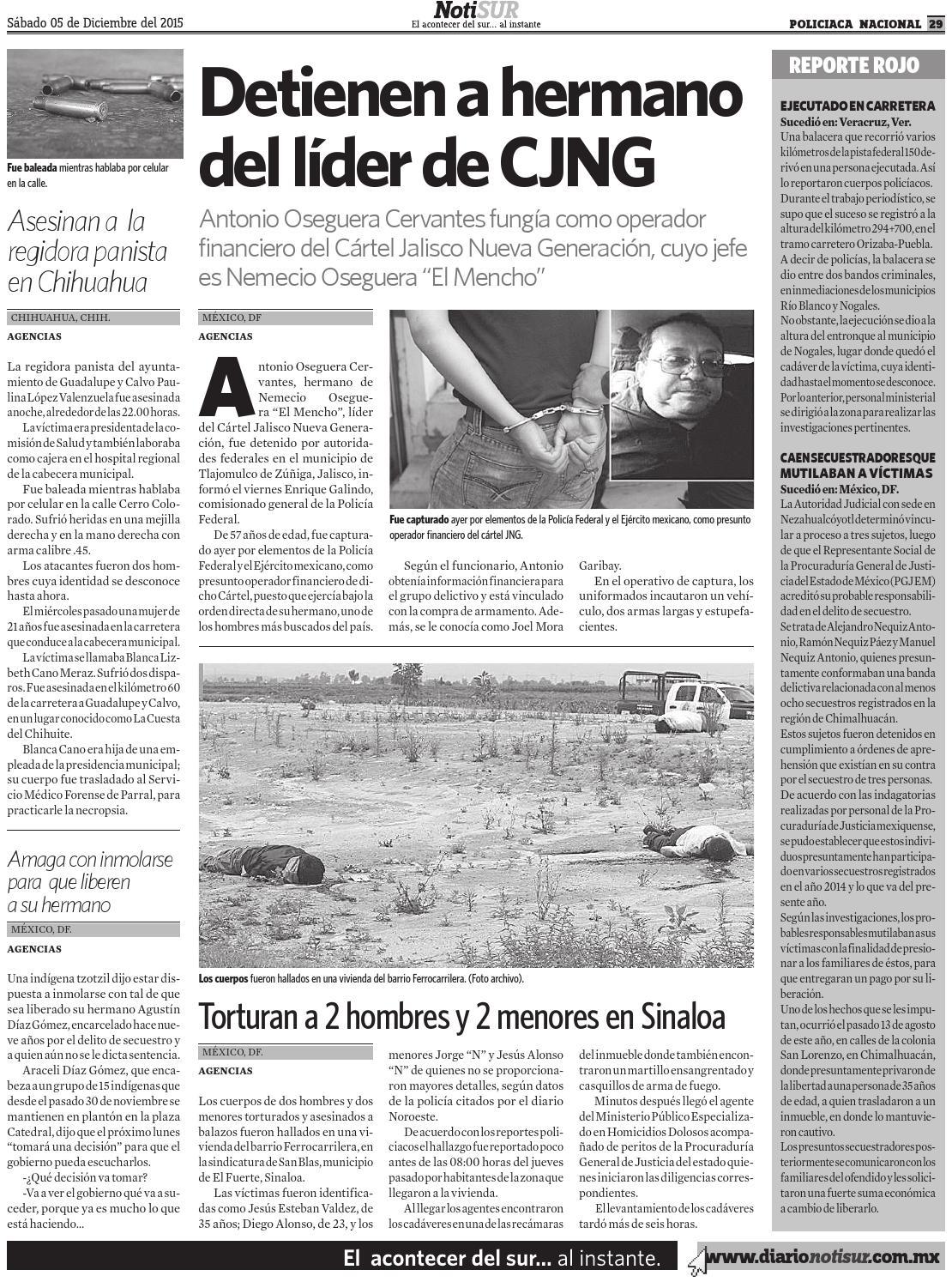 NotiSUR 05 de Diciembre 2015 by Diario NotiSUR Coatzacoalcos