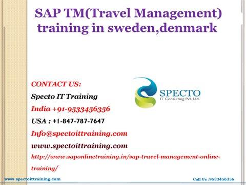 Sap tm(travel management) training in sweden,thaialnd