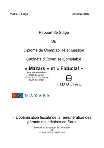 Rapport De Stage Dcg 3 V2 Final By Hugomaisse Issuu