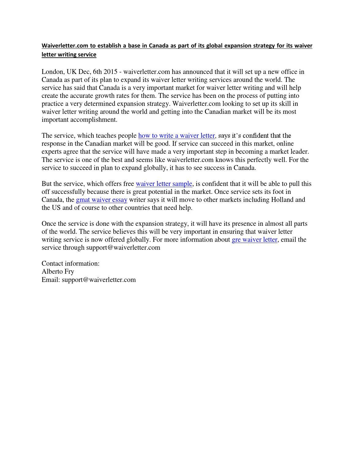 gmat waiver essay sample
