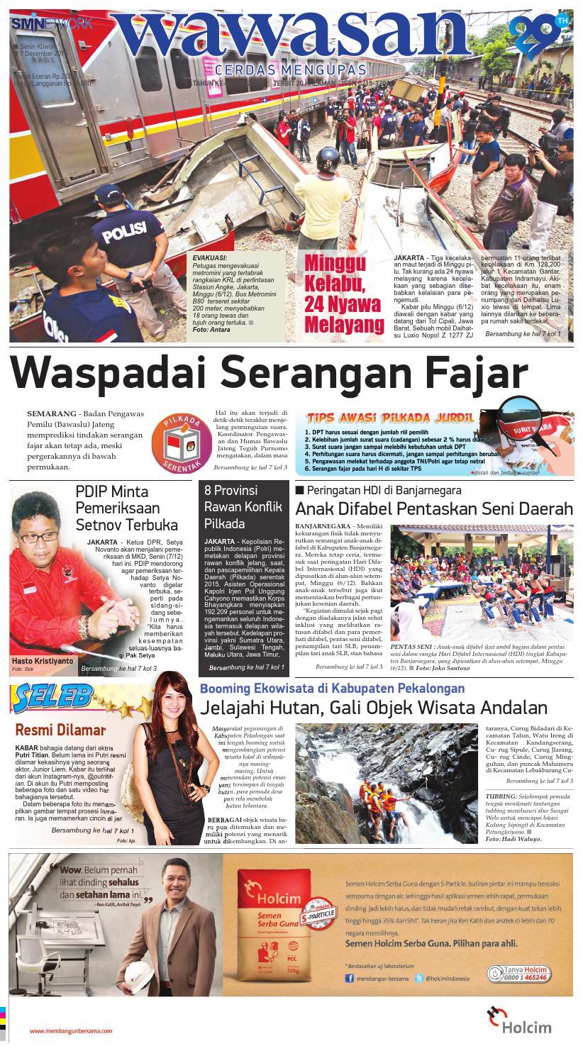 WAWASAN 07 Desember 2015 by KORAN PAGI WAWASAN - issuu af67d45b51