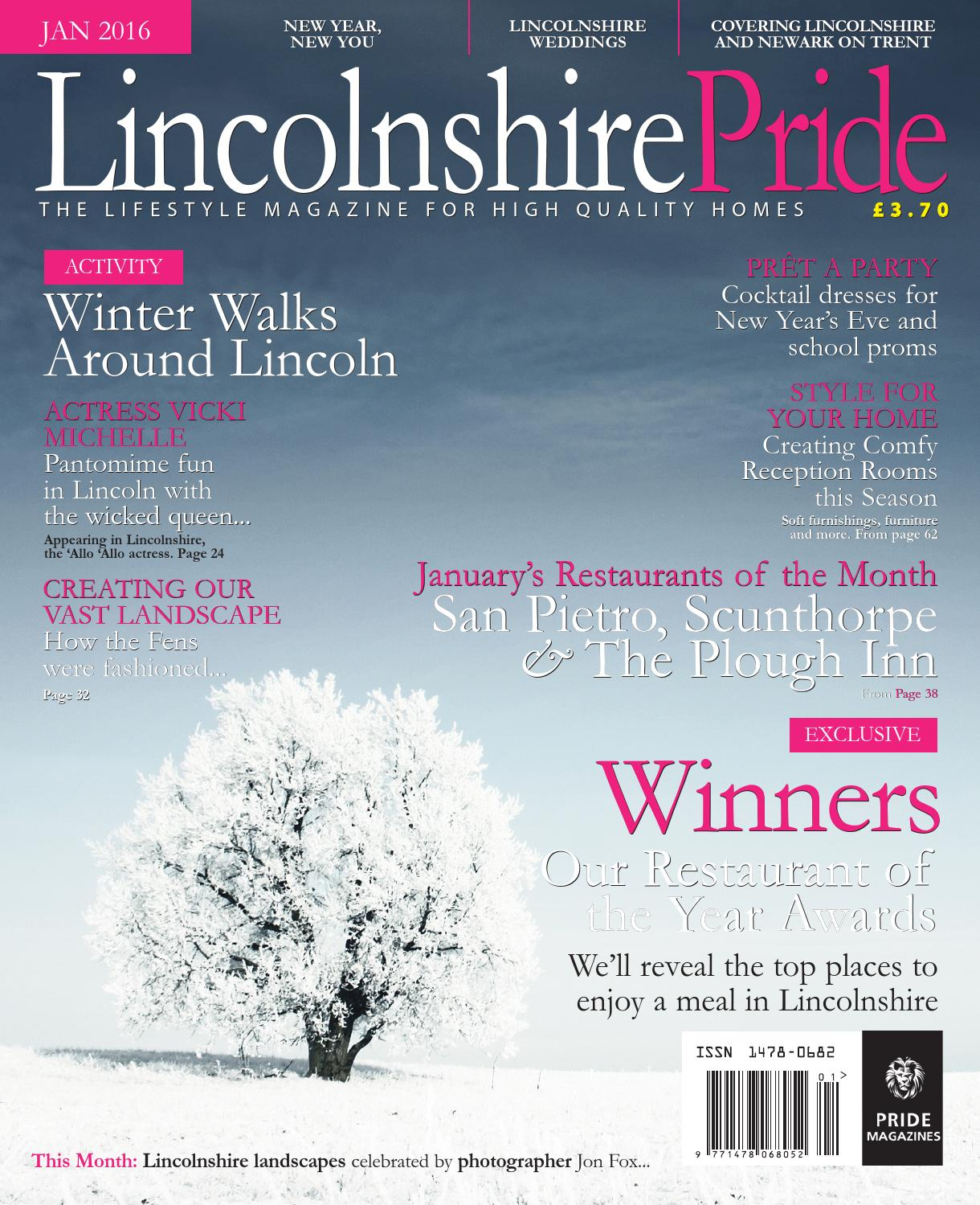 Lincolnshire Pride January 2016 by Pride Magazines Ltd - issuu