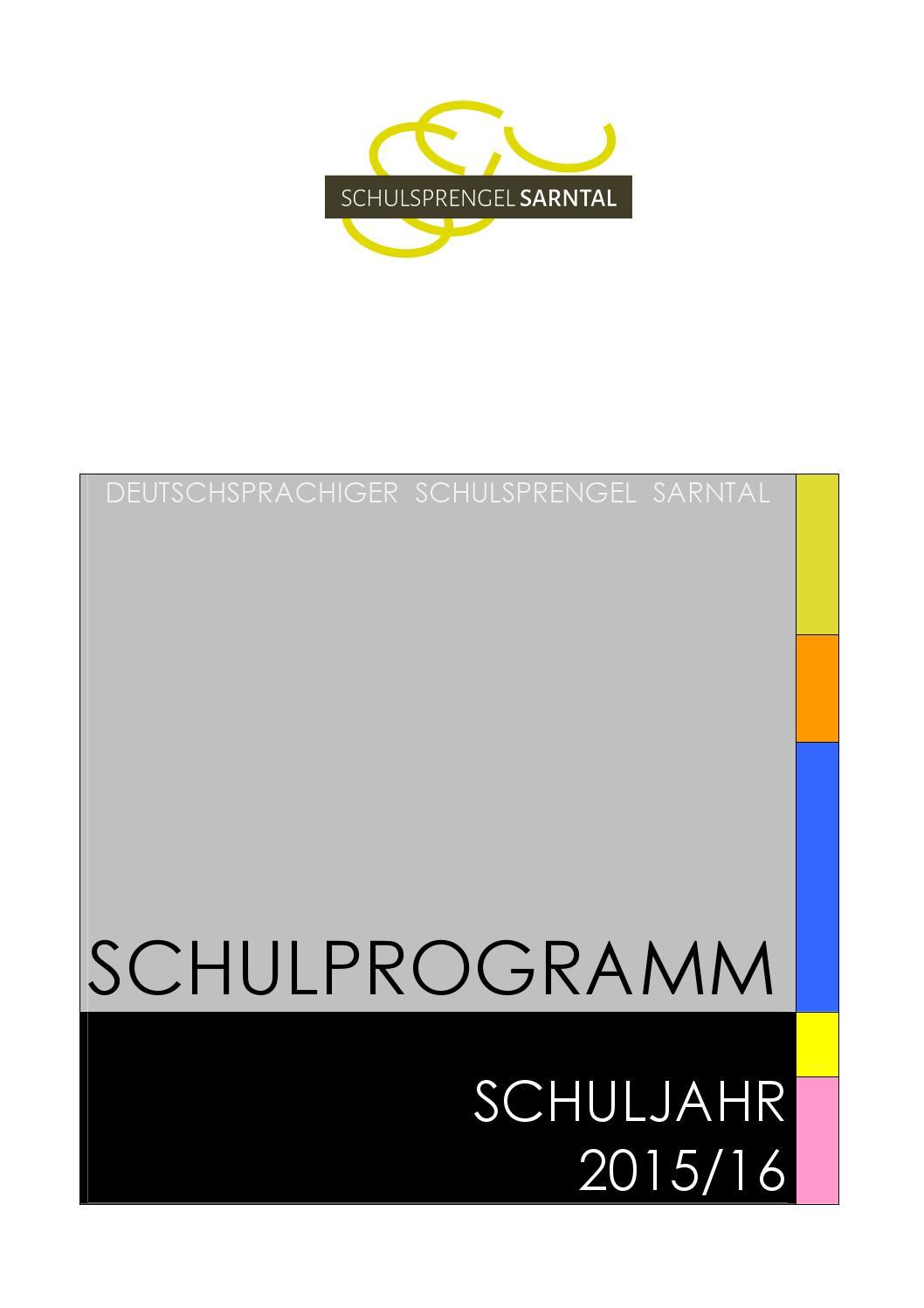 Schulprogramm 2015 2016 by Schulsprengel Sarntal - issuu