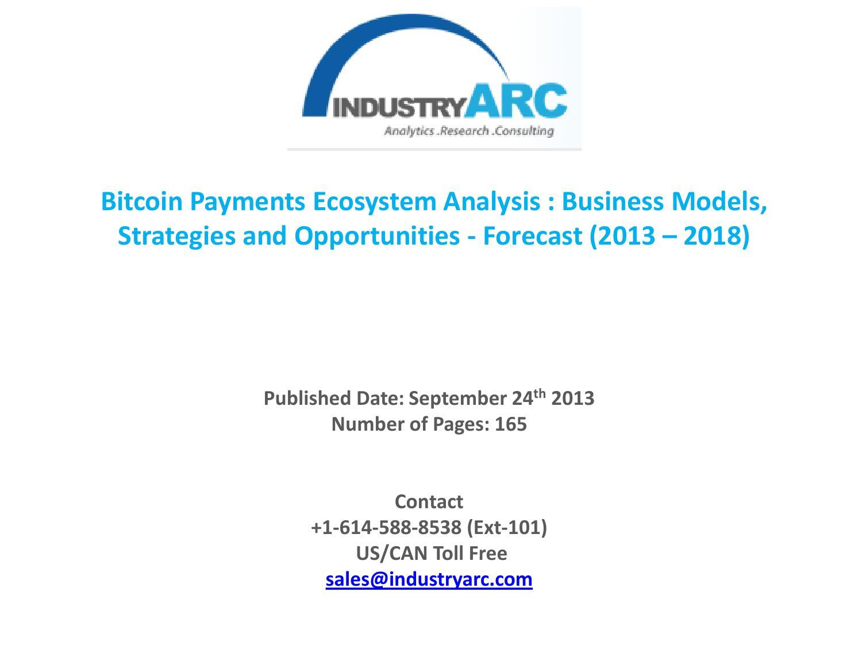 bitcoin payments ecosystem market)