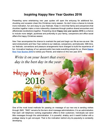 Inspiring Happy New Year Quotes 2016 by Sneha Royj - issuu