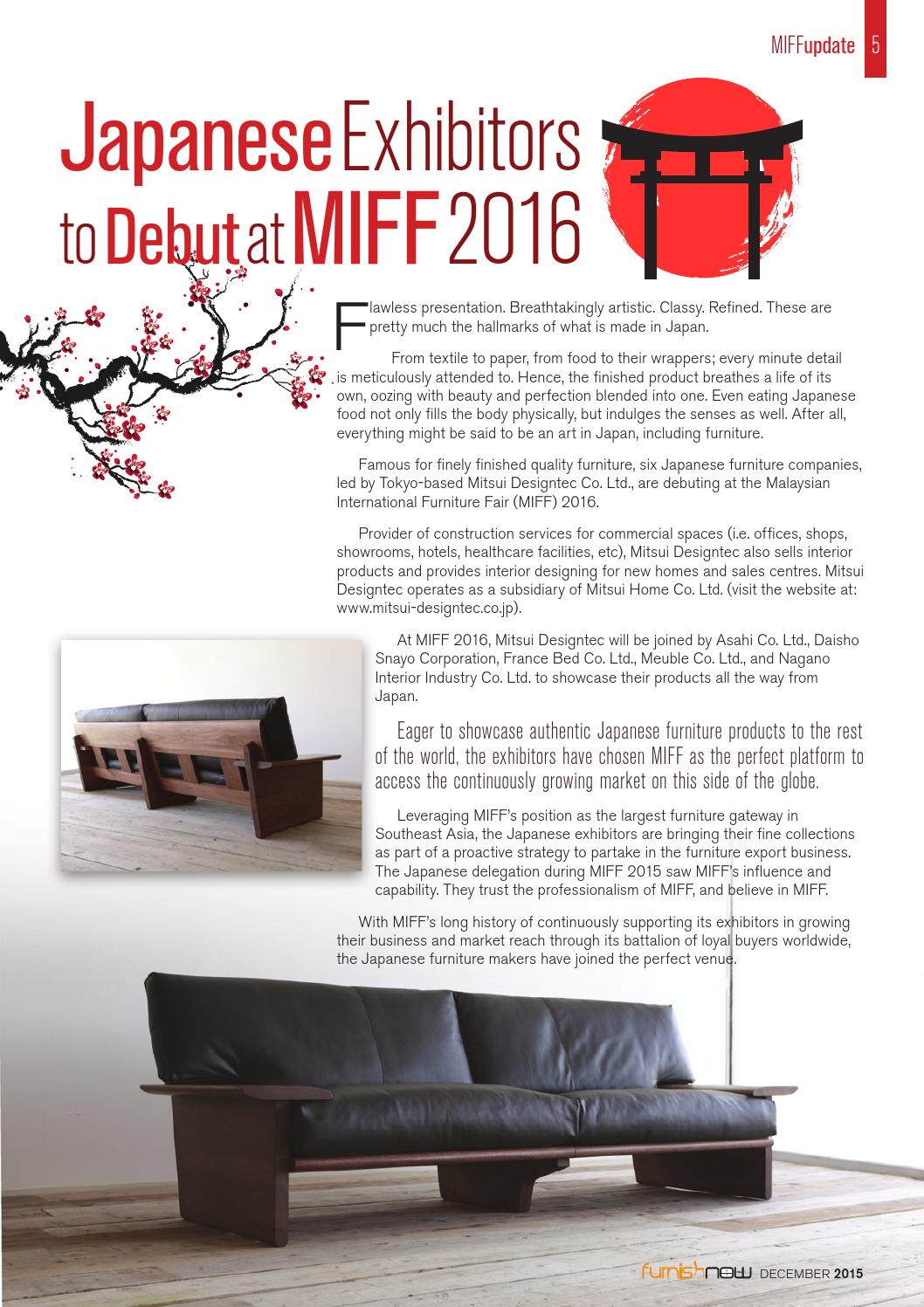 Furnish Now magazine - December 2015 by Media MICE - issuu