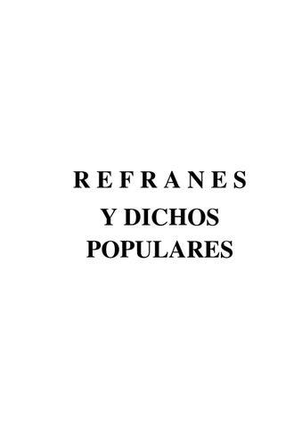Refranes Y Dichos Populares By Joaquin Quesada Guzman Issuu