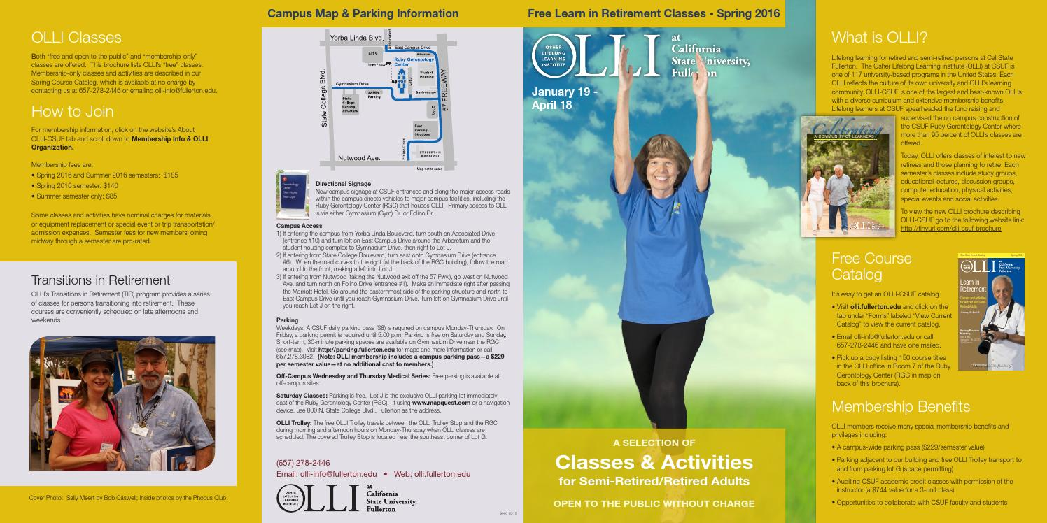 Olli S Outreach Spring 2016 By Csuf University Extended Education