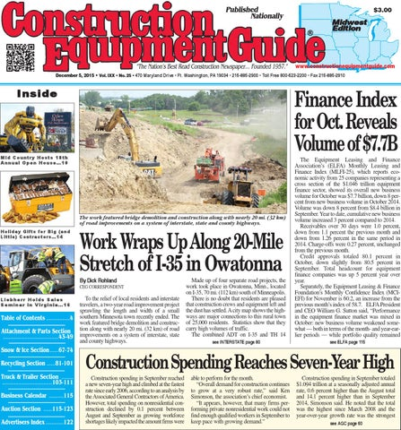 midwest 01 2016 by construction equipment guide issuu midwest 25 2015