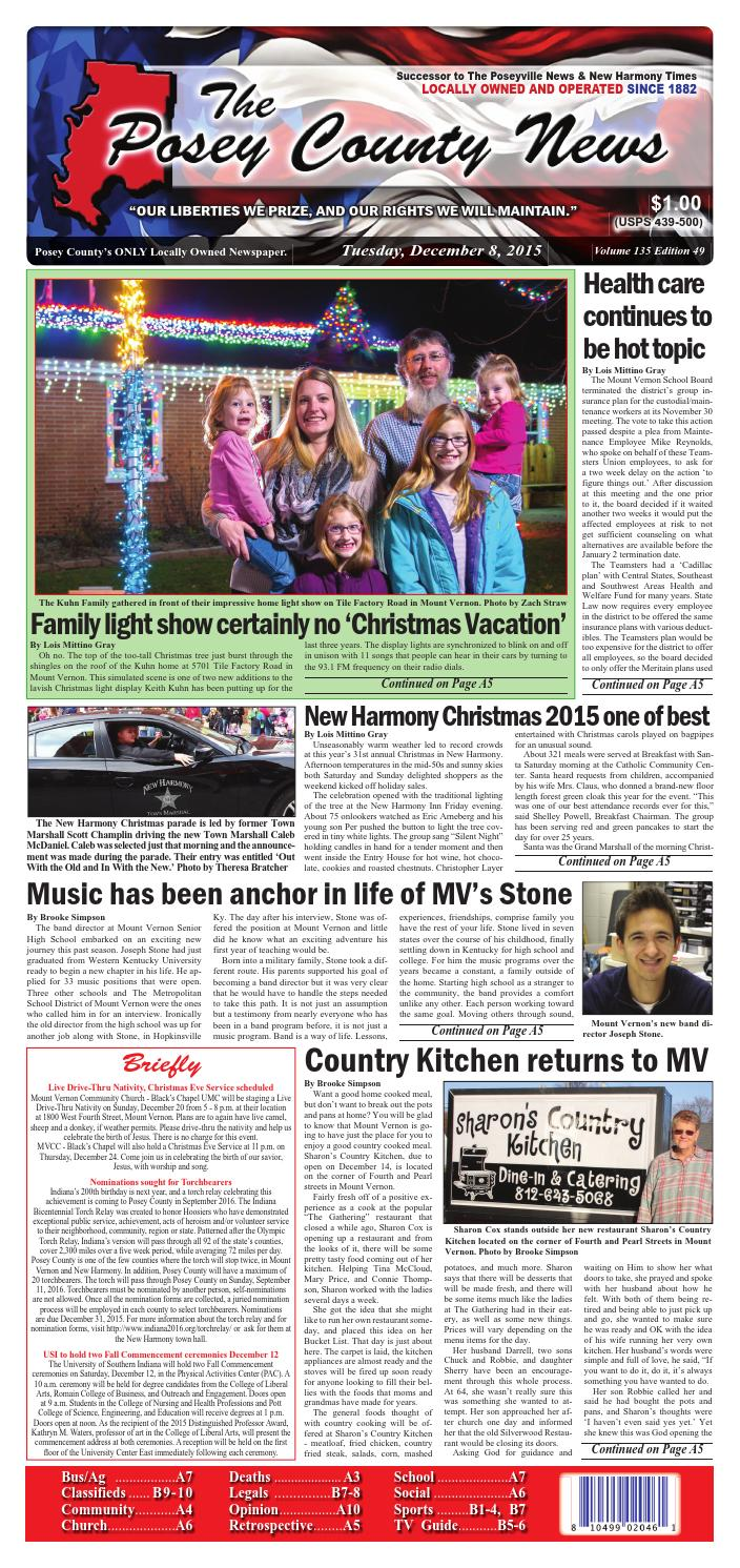 December 8, 2015 - The Posey County News by The Posey County News ...