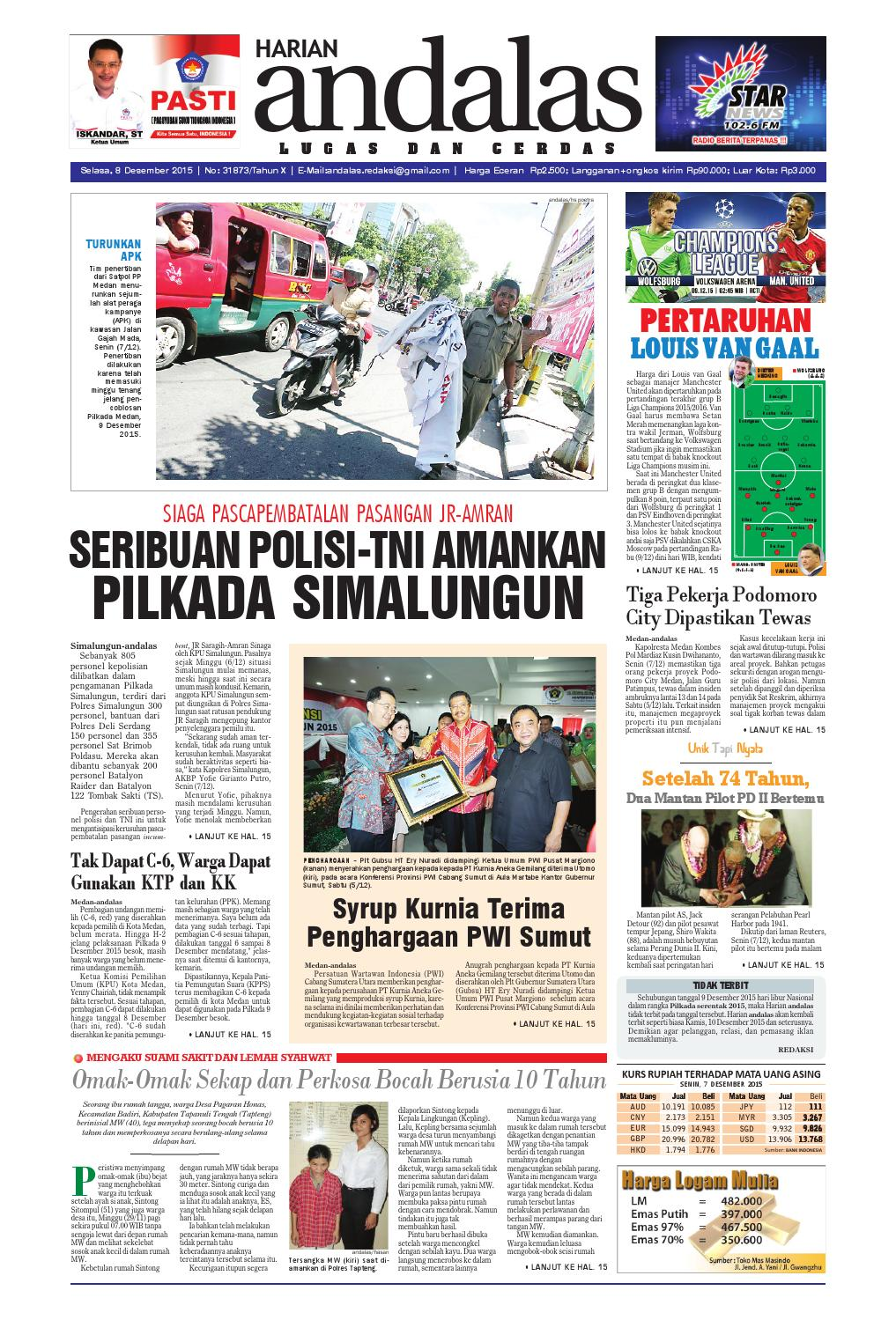 Epaper andalas edisi selasa 8 desember 2015 by media andalas - issuu 57a061b873
