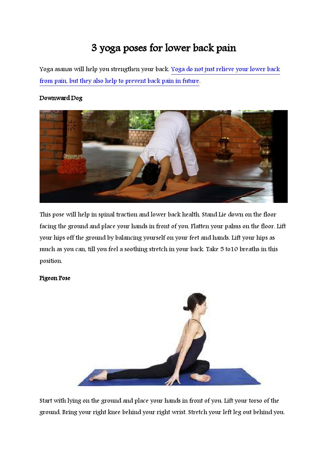 50 yoga poses for lower back pain by Quotes by Sri Sri Ravi Shankar ...