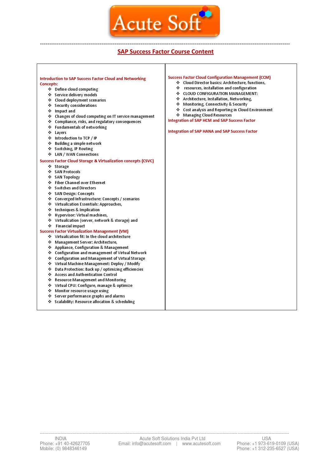 SAP SuccessFactors Training - SAP ALL Online Training by