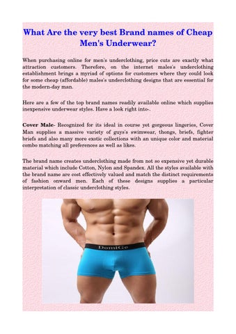 f6a149912 What Are the very best Brand names of Cheap Men s Underwear  When  purchasing online for men s underclothing
