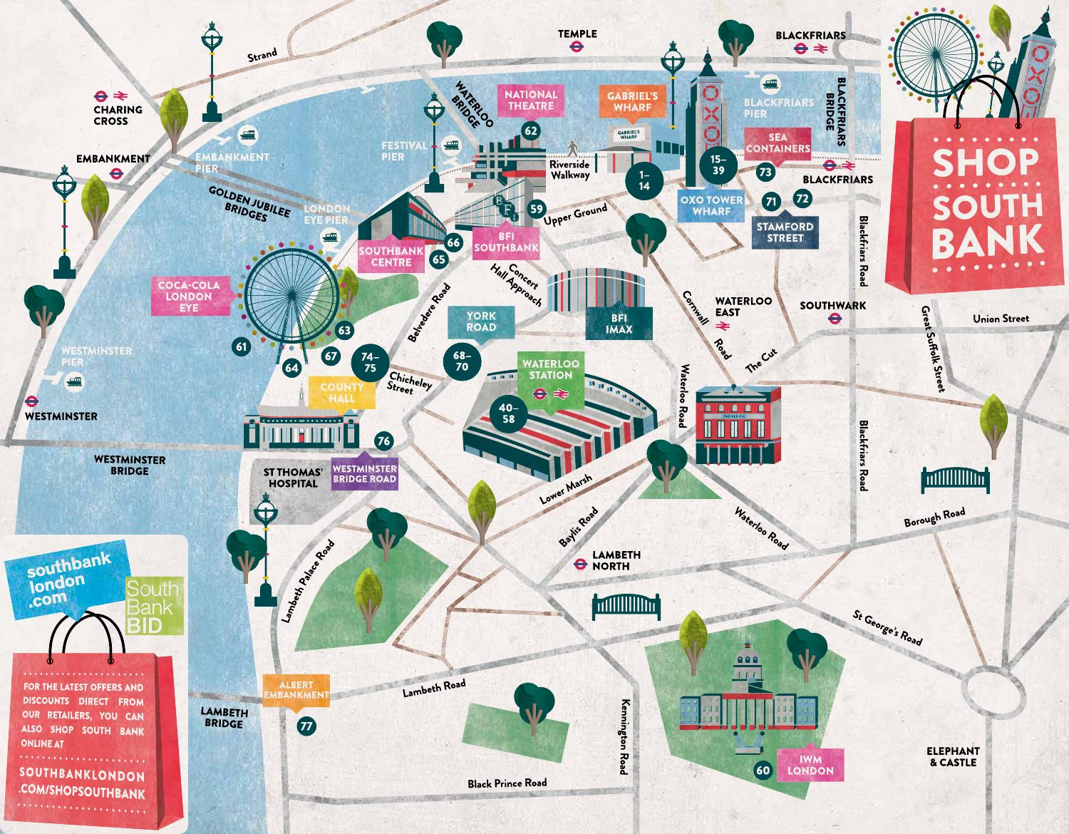South London Areas Map.Shop South Bank Map By South Bank London Issuu