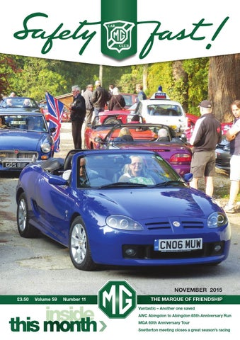 72655245266 Safety Fast! November 2015 by MG Car Club - issuu