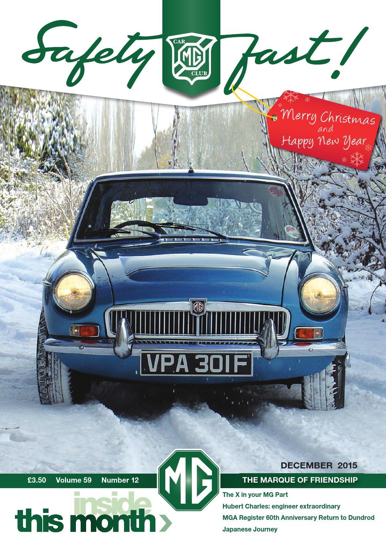 Safety Fast! December 2015 by MG Car Club - issuu