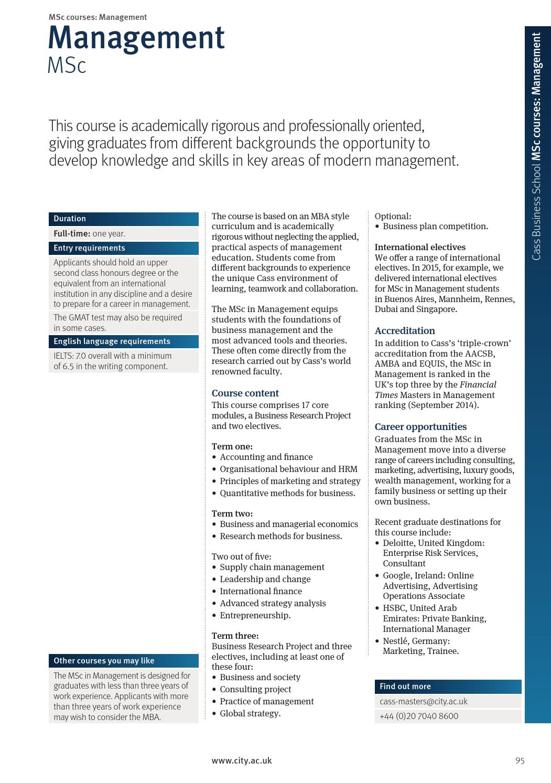 City University London 2016/17 Postgraduate Prospectus by