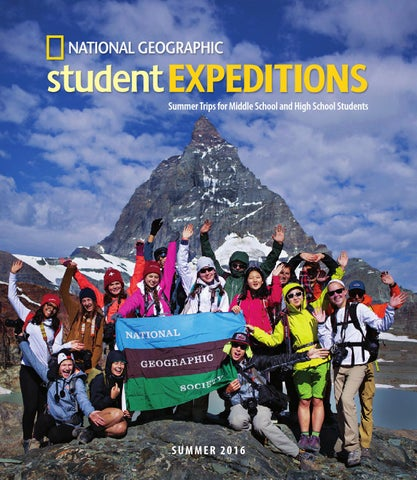 2016 National Geographic Student Expeditions By National Geographic