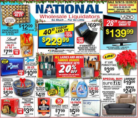 For National Wholesale Liquidators we currently have 1 coupons and 0 deals. Our users can save with our coupons on average about $Todays best offer is Free Shipping w/ Discount algebracapacitywt.tk you can't find a coupon or a deal for you product then sign up for alerts and you will get updates on every new coupon added for National Wholesale Liquidators.