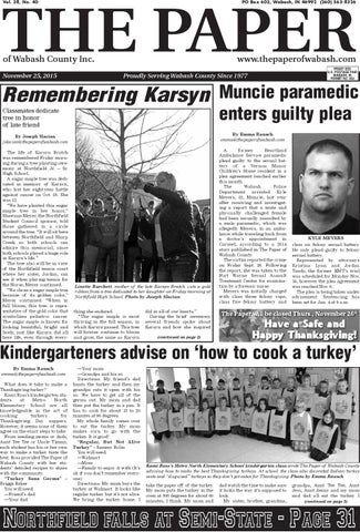 The Paper Of Wabash County Nov 25 2015 By The Paper Of Wabash