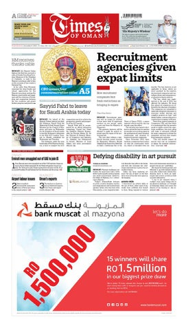 Times of Oman - December 9, 2015 by Muscat Media Group - issuu