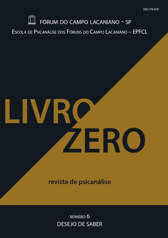 Livro zero nmero 6 by frum do campo lacaniano de so paulo issuu page 1 fandeluxe Gallery