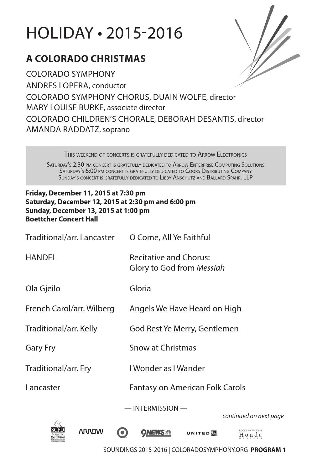 a colorado christmas and jackie evancho sings holiday hits more program notes by colorado symphony issuu
