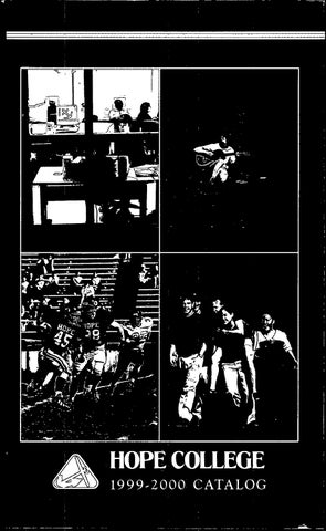 Hope college 1999 2000 catalog by Hope College Library - issuu