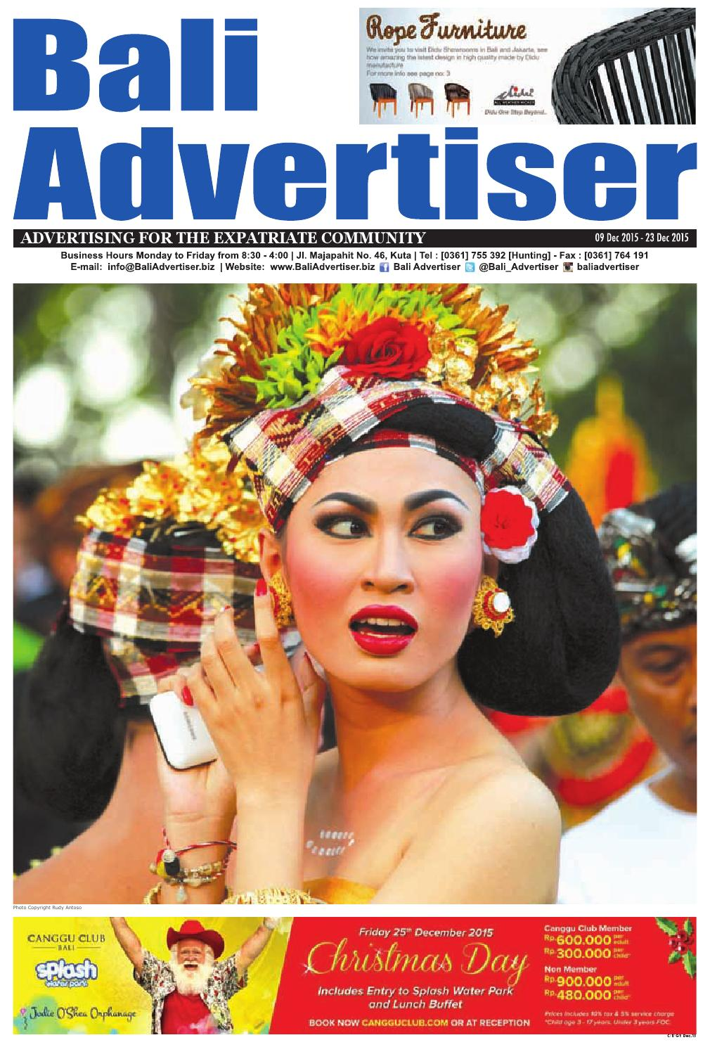 Ba 09 December 2015 By Bali Advertiser Issuu Atasan Pt 06 Putih Shop At Velvet
