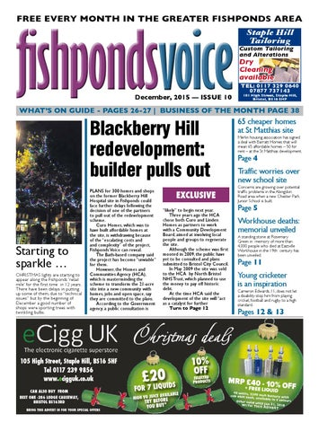 Gala Bingo Fishponds >> Fishponds Voice December 2015 By Fishponds Voice Issuu