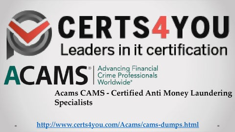 Acams Study Material by Certs4you - issuu