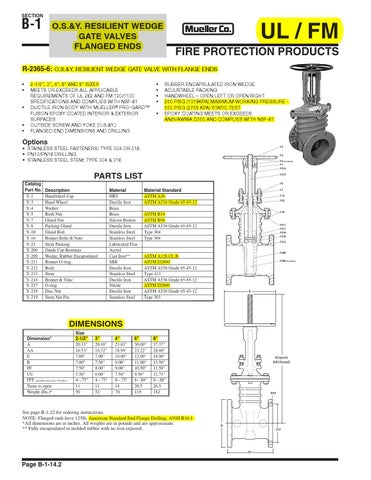 Mueller Os Amp Y Gate Valves By Mohannad Faysal Issuu