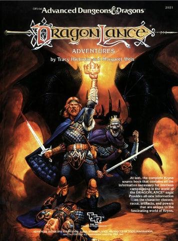 Ad&d dragonlance adventures by mfrances73 - issuu