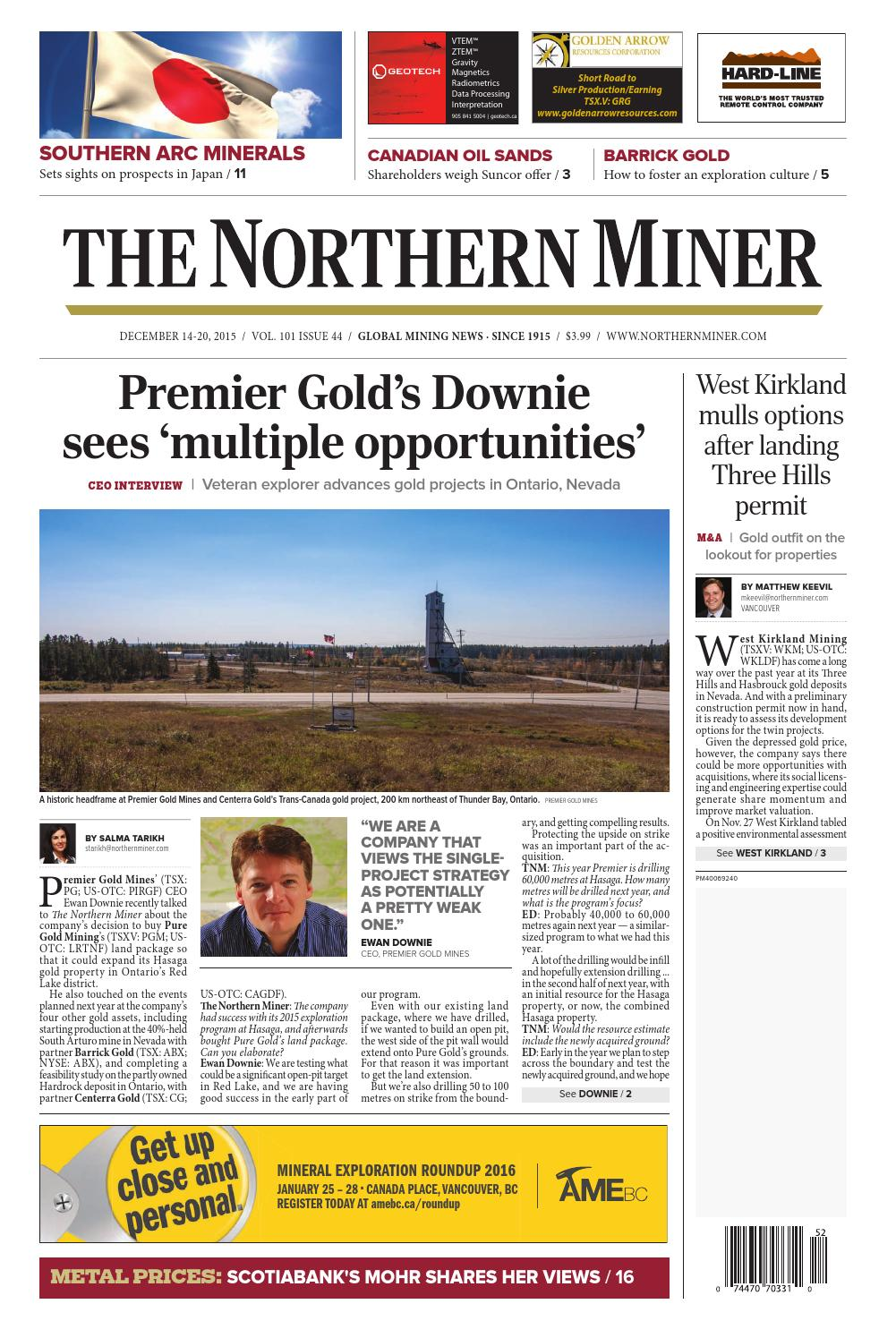 The Northern Miner December 14 2015 Issue by The Northern Miner