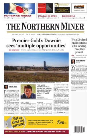The Northern Miner December 14 2015 Issue by The Northern