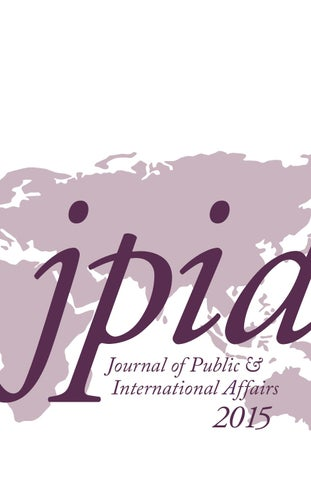 Journal Of Public And International Affairs 2015 By Woodrow Wilson