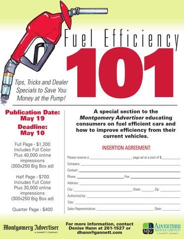 Fuel Efficiency flyer by Stephanie Chambers - issuu