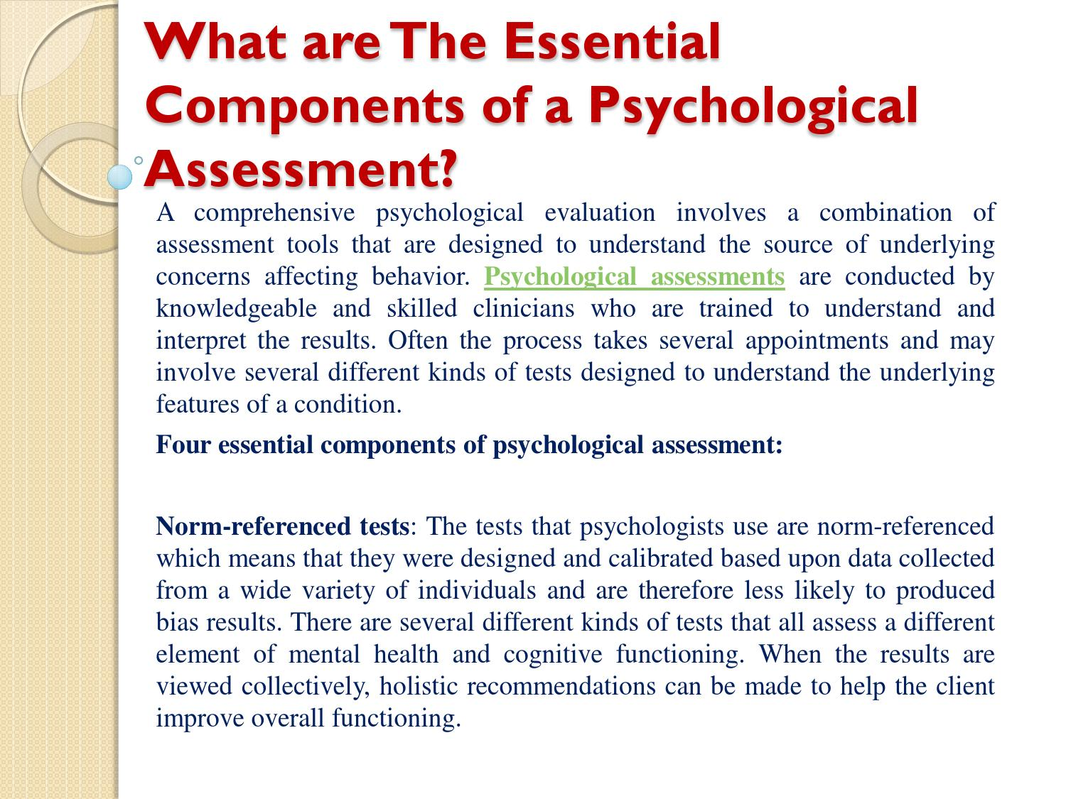 What are The Essential Components of a Psychological