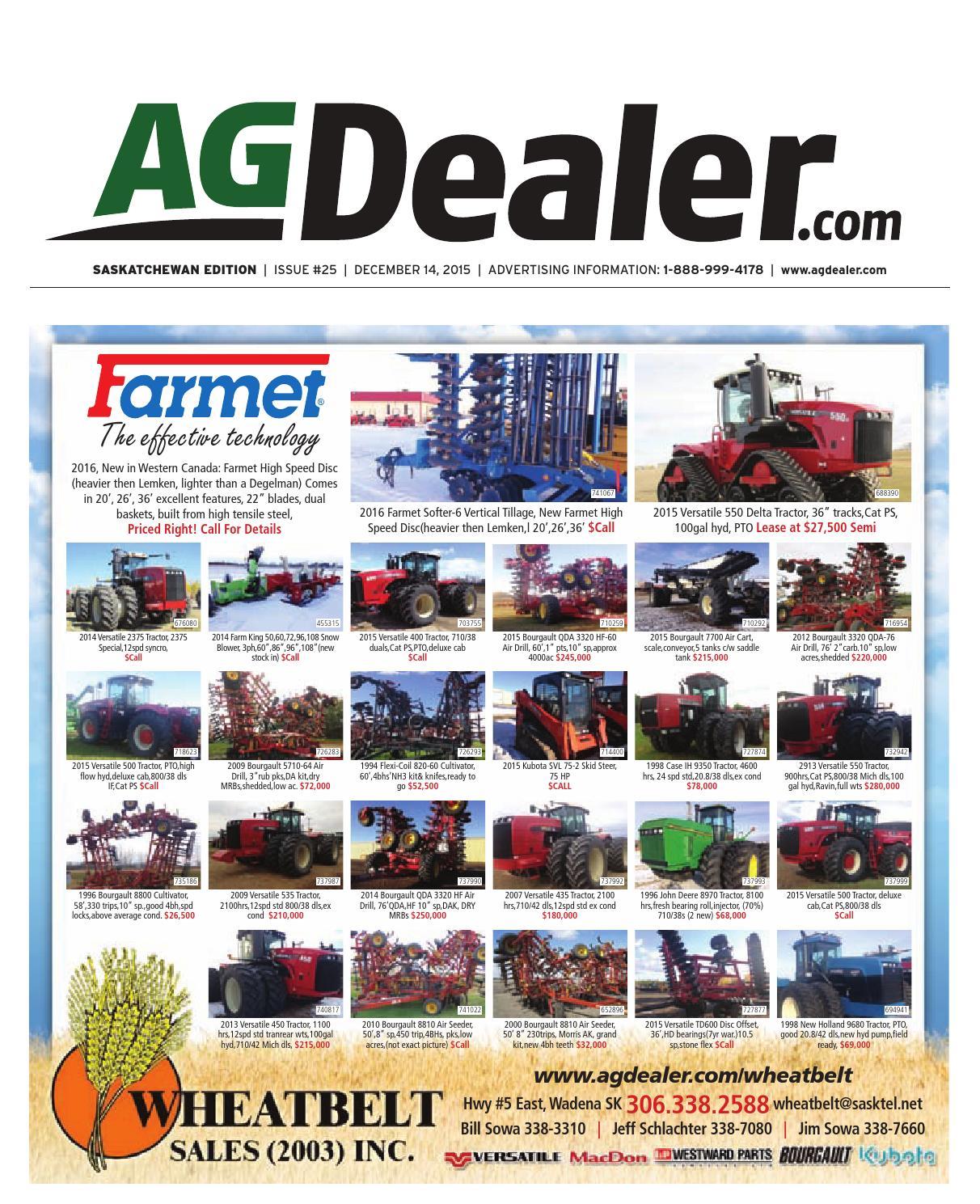 Wheel & Deal Saskatchewan, December 14, 2015 by Farm Business  Communications - issuu