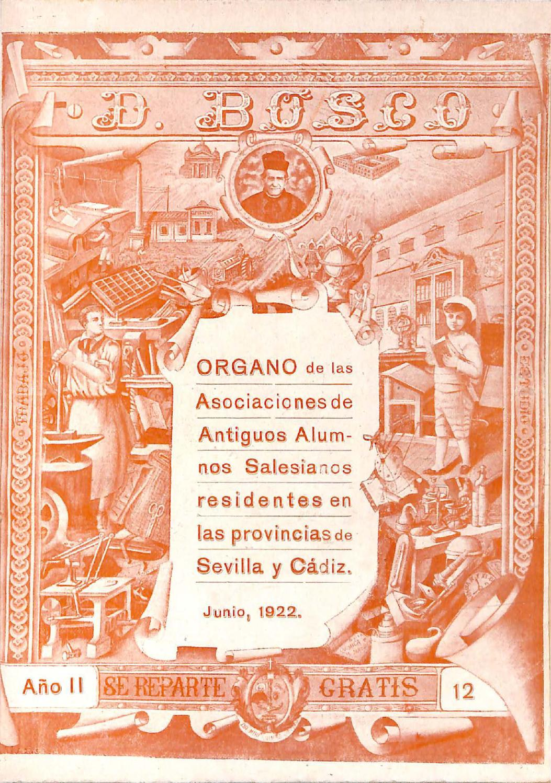 Don Bosco A O 2 Num 12 Junio 1922 By Asociacion De Aa Aa Db Cadiz  # Muebles Ridodel