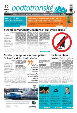 0319482e5 Podtatranské noviny 50-2015 by Tony - issuu
